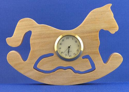 Hand cut w// choice of insert Rocking Horse Mini Clock