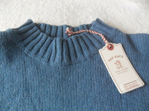 Style Fat Sennan Blue Ex lana 6 Split 18 Maglione Longline Face Tunica Sea Side di q1HFw4tw