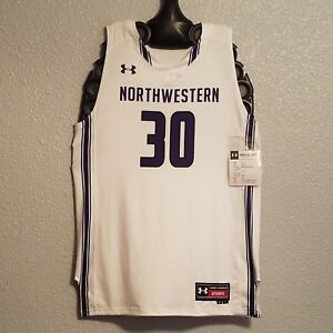quality design a27c9 23830 Details about NCAA - NWT UNDER ARMOUR NORTHWESTERN WILDCATS BASKETBALL  JERSEY WHITE - MENS L