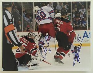 official photos fc262 206c5 Cory Schneider Adam Larsson DUAL Signed Autograph Photo NJ ...
