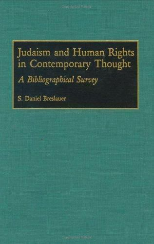 Bibliographies and Indexes in Religious Studies: Judaism and Human Rights in...