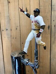 Boston-Red-Sox-TAP-HANDLE-David-Ortiz-Beer-Keg-MLB-BASEBALL-White-Jersey