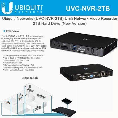Ubiquiti UniFi Video UVC-NVR-2TB UniFi Video NVR w 2TB HDD 817882022279 |  eBay