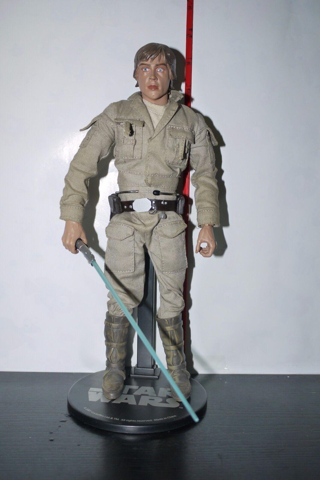 STAR WARS Sideshow 1 6 Luke Skywalker Rebel Hero COMMANDER 12  Figure INCOMPLETE