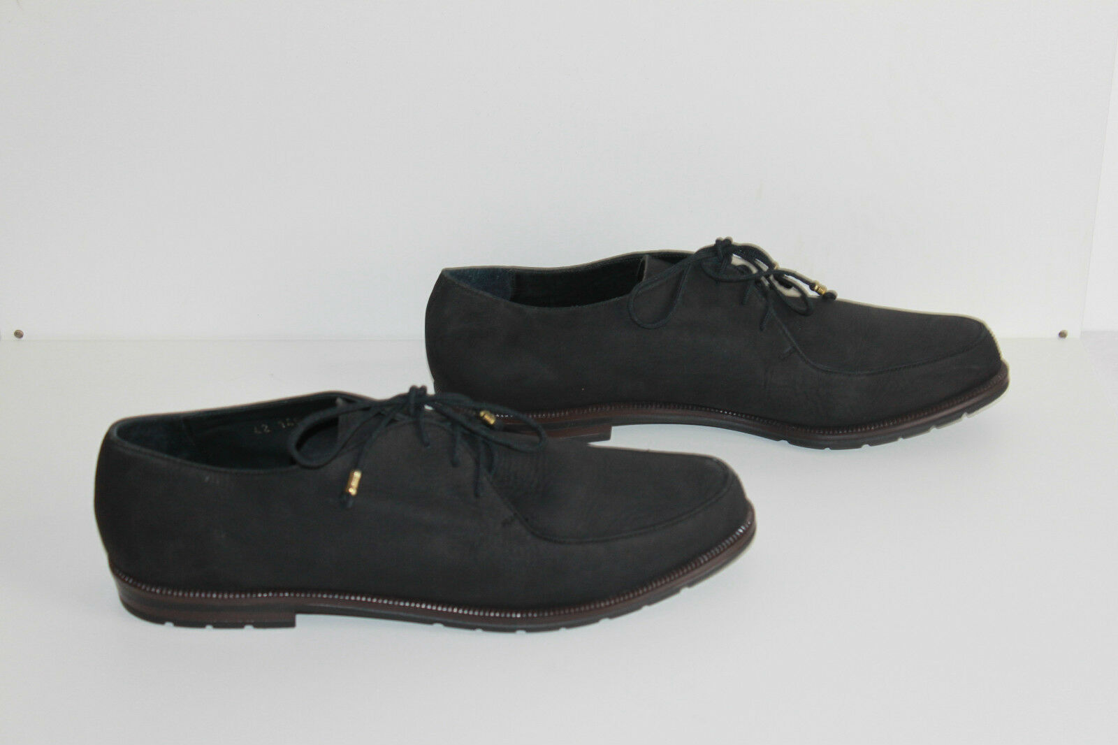 Derby Derby Derby shoes AEROGREEN Black Leather T 42 TOP CONDITION ca14c8