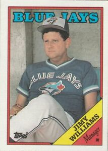 FREE-SHIPPING-MINT-1988-Topps-Toronto-Blue-Jays-314-Jimy-Williams-MG