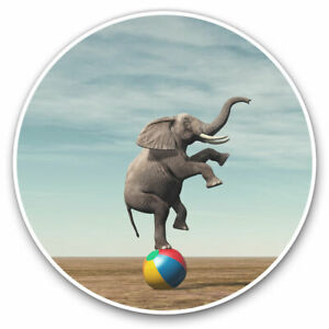 2-x-Vinyl-Stickers-7-5cm-Circus-Elephant-Surrealism-Art-Cool-Gift-14893