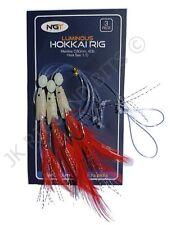 Hook size 2//0 Mackerel//Bass cod Hokkai hockeye Sea Lures Fishing Rigs