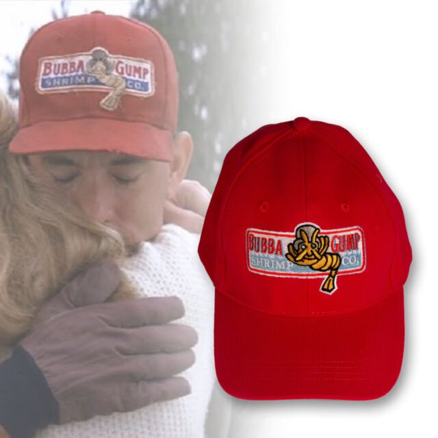 Bubba Gump shrimp embroidered Hat Run Forrest Gump cosplay Halloween costume cap