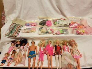 Barbie-Ken-Kelly-Dolls-Clothes-Accessories-Lot-Vintage-1990s-Mattel-Aus-Seller