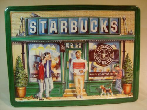 1999 Original Starbucks 1st Coffee Store Front 3D collector cookie tin
