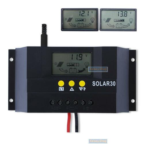 NEU 30A 12V 24V Solar Laderegler Solarregler Solarpanel Controller Regulator