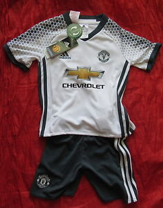 28002570f Full Kit MANCHESTER UNITED shirt shorts ADIDAS 2016-2017 Little BOY ...