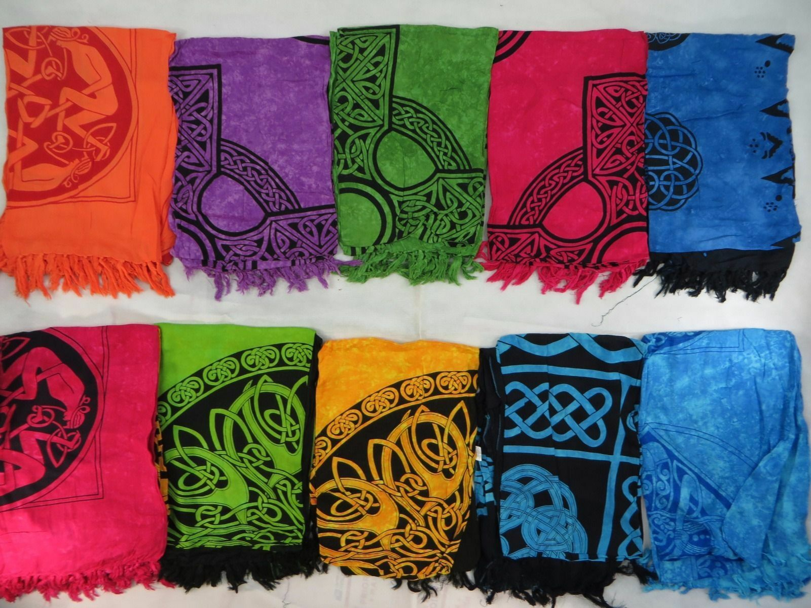US SELLERlot of 5 Celtic Altar Cloth Scarf Tared Table Cloth Tapestry Sarong