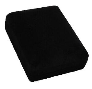 Black-Velvet-Flock-Jewellery-Gift-Box-Necklace-Pendant-Bracelet-7-5cm-x-6cm