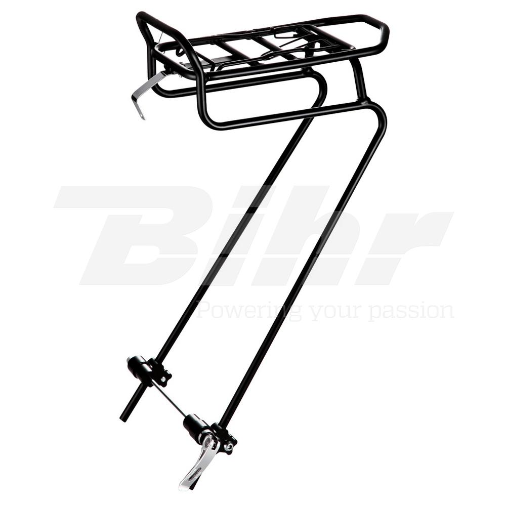 15330 Portabagagli anteriore bici da QR 242628 in alluminio Coloreeee nero