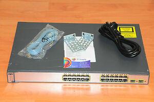 CISCO-WS-C3750-24PS-S-Switch-24-FE-Ports-PoE-2-SFP-w-racks-6MthWtyTaxInv
