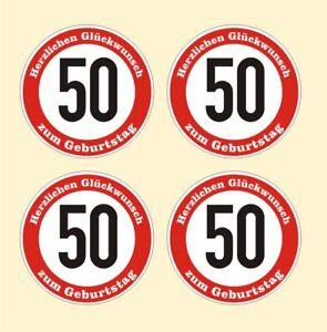 Details Zu 4x Verkehrsschild 50 Geburtstag Aufkleber Verkehrszeichen Straßenschild Birthday