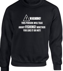 Funny Hobby Lake Sweatshirt Fishing Sea River Statement Gift Mens Rod Fish PIgPwq7x