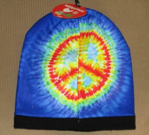 New Beanie Hat Woodstock Tie Dye Winter Soft Music Festival 1969 Peace 50 Years