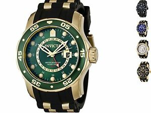 Invicta-Men-039-s-Pro-Diver-Black-Polyurethane-and-Stainless-Steel-Watch