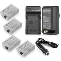 4 pack LP-E8 LPE8 Battery + Charger For Canon EOS 550D 600D 650D 700D Rebel T2i