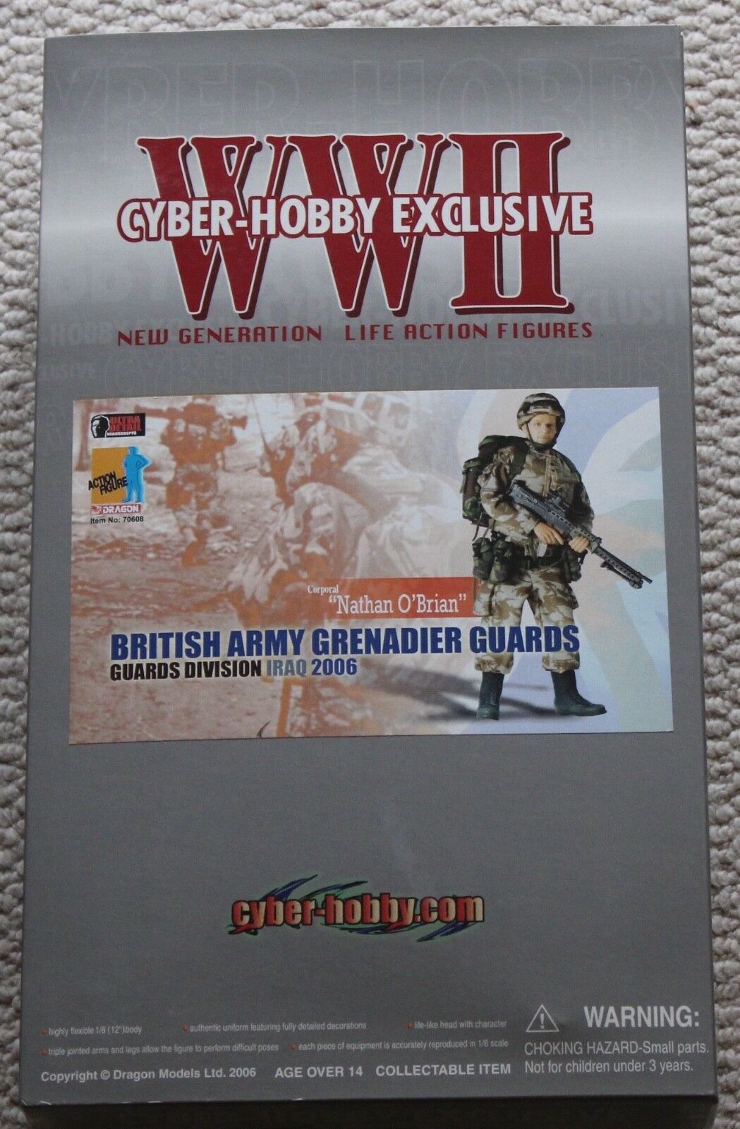Dragon cyber hobby action figure british grenadier iraq nathan did hot toys