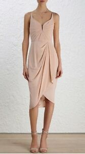 drape khaki in zack dress john khloe iclothing front drapes midi draped