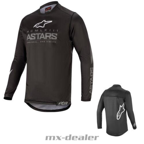 2020 Alpinestars Racer Graphite Schwarz mx motocross Cross Jersey Shirt BMX DH
