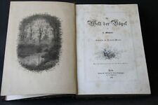 J. Michelet - Masius  Die Welt der Vögel 1870 Giacomelli