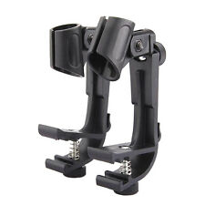 Microphone Holder Conga Bongos Drum Hoop Rim Mount Rubber Shock Mount Mic Clip