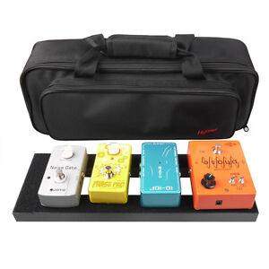 mini aluminum guitar effects pedal board diy setup kits soft pedalboard bag 603803163066 ebay. Black Bedroom Furniture Sets. Home Design Ideas