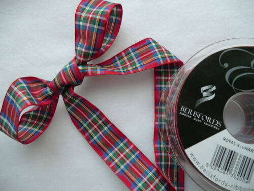 Burns Noël 70,40,25,16mm Craft Royal Stewart Tartan Ruban 1mtr Berisfords
