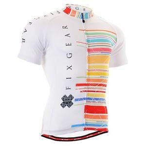 FIXGEAR CS-102 Men/'s Short Sleeve Cycling Jersey Bicycle Apparel Roadbike MTB