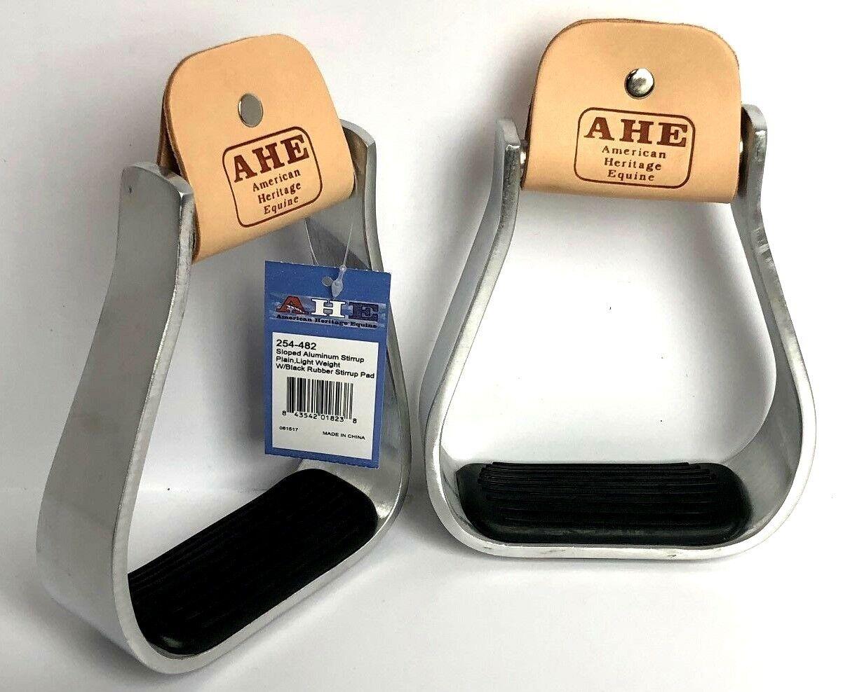 NEW Aluminum Slant Barrel Stirrups with Rubber Tread