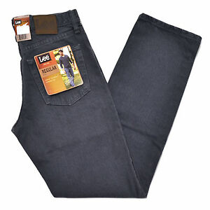 Lee-Mens-Jeans-Thunder-Gray-Blue-Regular-Fit-Straight-Leg-Men-Classic-Fit