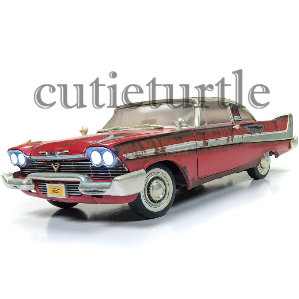 Autoworld Christine 1958 Plymouth Fury 1 18 Diecast Car AWSS119 AWSS119 AWSS119 Dirty Version f5bcc8