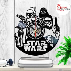 Details About Star Wars Darth Vader Yoda Vinyl Record Wall Clock Kids Birthday Best Gift Decor