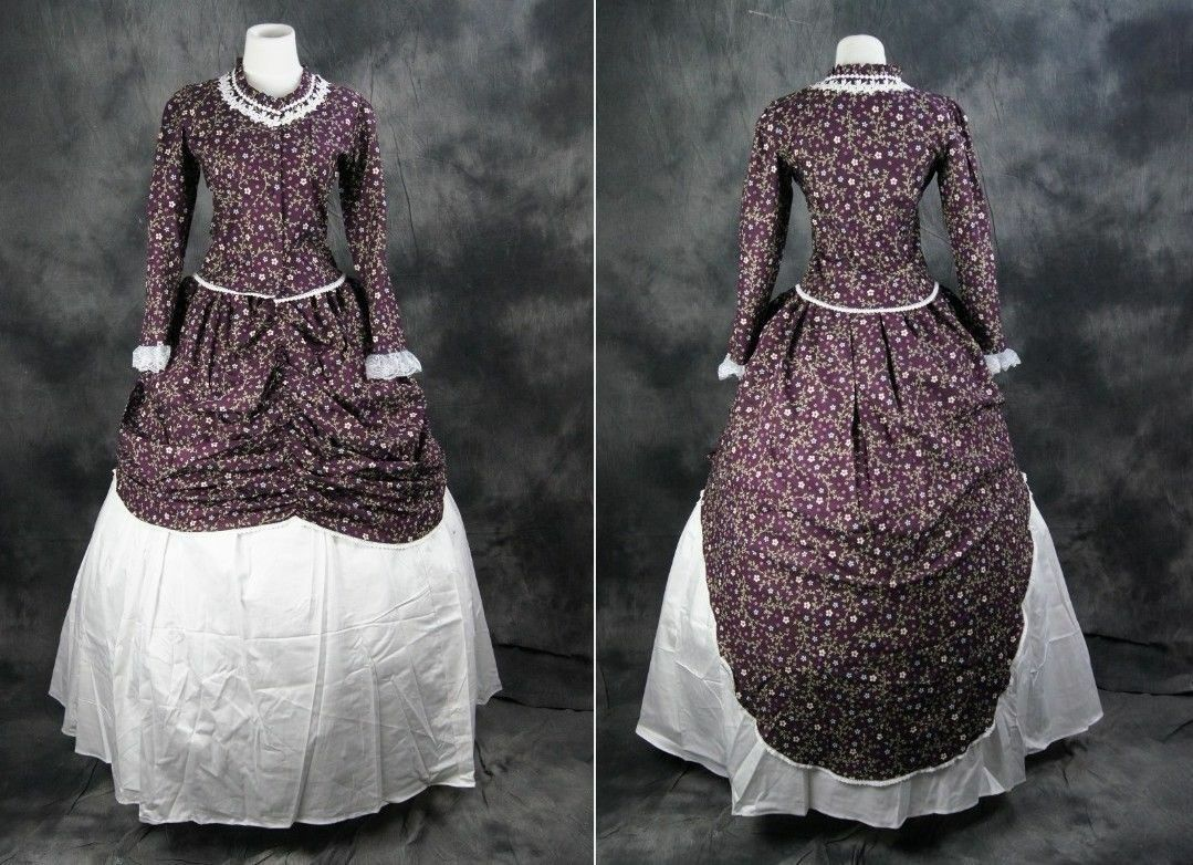 V-18 taille s, m fleurs victorian victorian victorian cosplay costume robe dress costume civil était 0876e0