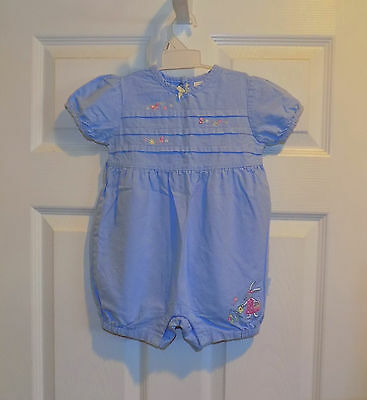 Mud Pie Baby Girls Cottontails Collection Striped Bunny One-Piece Romper Easter