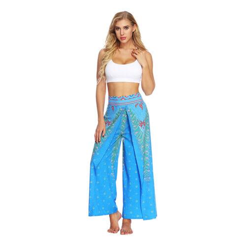 Aladinhose Damen Weites Bein Haremshose Yoga Fitnesshose Strand Pumphose Jogging