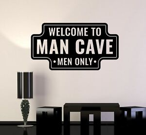 Vinyl Wall Decal Man Cave Funny Art For Men Garage Manspace Stickers Ig5134 Ebay