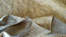 """Copper & Orange Antique Satin Fabric!! Brocade! 481/2"""" Wide!!  Sold by the yard!"""