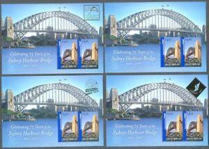Respectueux Australie-sydney Harbour Bridge-complet 4 Diff Min Feuilles Neuf Sans Charnière 2007-ey Harbour Bridge-complete 4 Diff Min Sheets Mnh 2007fr-fr Afficher Le Titre D'origine