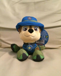 "PAW PATROL JUNGLE RESCUE CHASE PLUSH 8"" NEW WITH TAGS"
