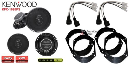 Harness Front Rear Adapters 2 Pair Kenwood KFC-1695PS 6.5 Speakers