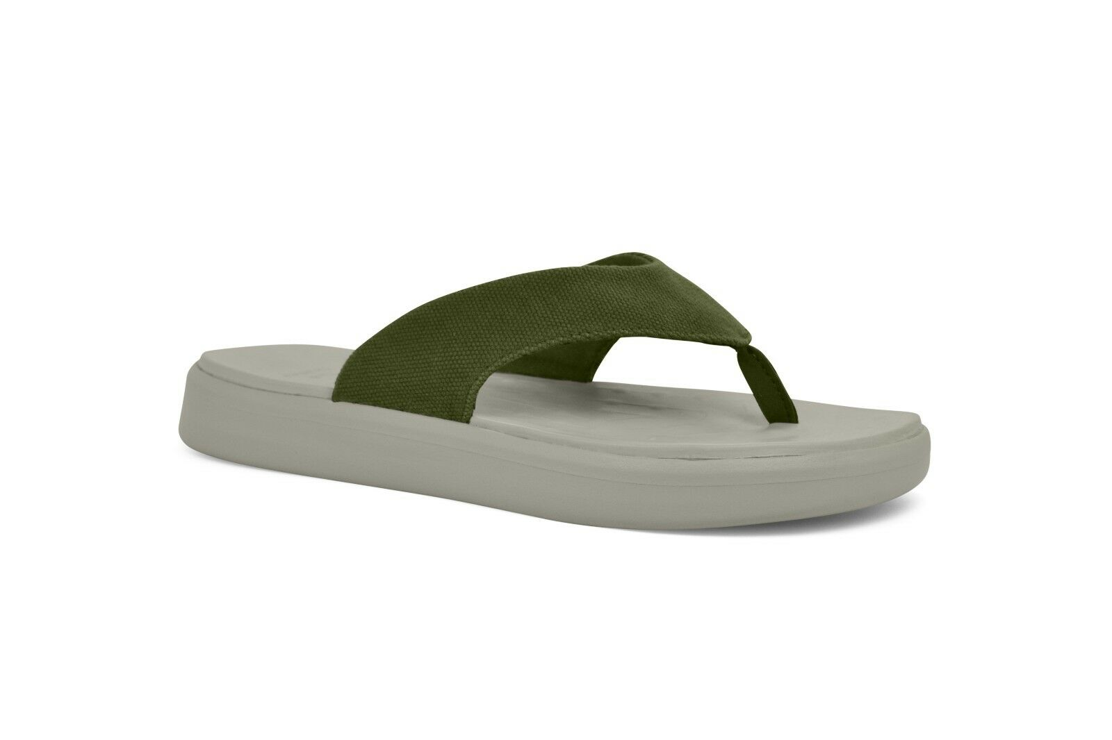 SoftScience The Skiff 3.0 Canvas Sandalen Zehentrenner Badelatschen Sage Grün