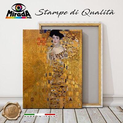 Quadri Moderni Klimt Ritratto Adele Bloch Quadro Stampa su Tela Canvas XXL Arte