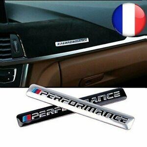 NEW-M-Performance-Auto-Logo-Capot-Autocollant-Embleme-BMW-SERIE-M3-M4-M6-Argent