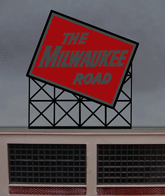The Milwaukee Road Animated Billboard #1072 N Scale Miller Engineering New!